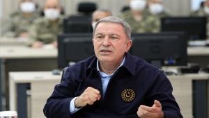 Bakan Akar, Sınır Hattındaki Birliklerin Komutanlarına Seslendi