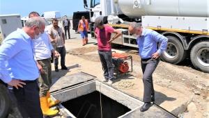 Başkan Metin,belediye çalışmalarını her gün sahada inceliyor