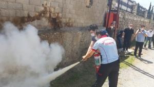 Safranbolu Belediyesi'nden Örnek Yangın Eğitimi