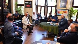 Başkan Zorluoğlu, Gazeteciler Cemiyeti'ni ziyaret etti