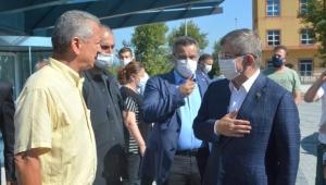 Davutoğlu, Başkan Kantarcı'yı ziyaret etti