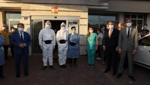 Başkan Palancıoğlu'ndan, filyasyon ekiplerine moral ziyareti