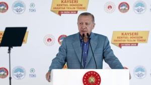 Cumhurbaşkanı Erdoğan, Kayseri Kentsel Dönüşüm Anahtar Teslim Töreni'ne katıldı.