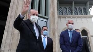 Cumhurbaşkanı Erdoğan, Taksim Camii ve yeni Atatürk Kültür Merkezinde incelemelerde bulundu