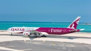"""Qatar Airways, Katar'da Düzenlenecek """"FIFA Dünya Kupası 2022TM"""" Temalı Uçağını Görücüye Çıkarıyor"""