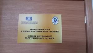 Rize'nin desteğiyle Bosna'da yapılan Türkçe sınıfı hizmete girdi