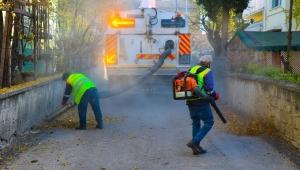 Belediye Temizlik Ekiplerinin Yaprak Mesaisi Başladı