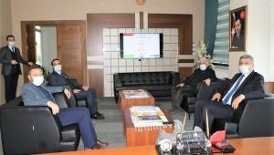 Milletvekili Avcı'dan,yeni ilçe başkanı Ak'la birlikte, kurum müdürlerine ziyaret