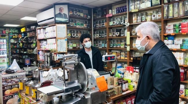 Milletvekili Günnar, Pazarkapı Mahallesi'nde esnafları ziyaret etti