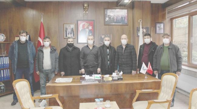 Yeni emekli madencilerden Demir'e veda ziyareti