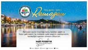 Halil Posbıyık,''sağlık ve huzur dolu Ramazan diliyorum''