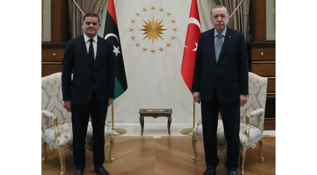 Libya Millî Birlik Hükûmeti Başbakanı Dibeybe Cumhurbaşkanlığı Külliyesinde