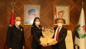Vali Çeber'e 10 Nisan Polis Haftası Dolayısıyla Ziyaret