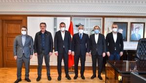 Trabzonspor Teknik Direktörü Avcı'dan, Başkanı Zorluoğlu'na ziyaret