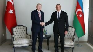 Cumhurbaşkanı Erdoğan, Azerbaycan Cumhurbaşkanı Aliyev ile Fuzuli'de bir araya geldi