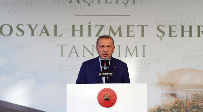 Cumhurbaşkanı Erdoğan, Darülaceze'deki açılış ve tanıtım töreninde konuştu