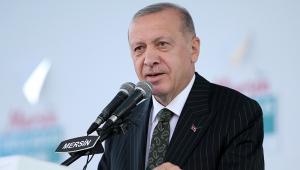 Cumhurbaşkanı Erdoğan, Mersin Cumhuriyet Meydanı'nda düzenlenen toplu açılış törenine katıldı