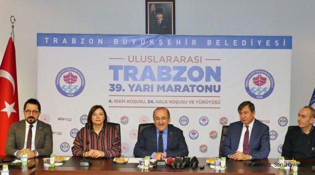 39'uncu Uluslararası Trabzon Yarı Maratonu Koşulacak...