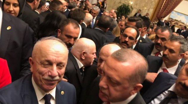 Başkan Özbakır, Cumhurbaşkanı Erdoğan ile bir araya geldi