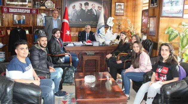 BEÜ Öğrencilerinden GMİS'e Teşekkür Ziyareti