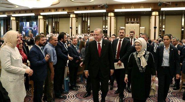 Cumhurbaşkanı Erdoğan Beştepe'de şehit yakınları ve gazileri ağırladı