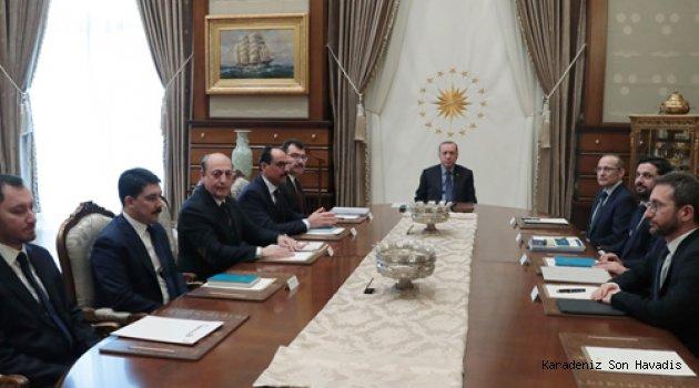 Cumhurbaşkanı Erdoğan, Cumhurbaşkanlığı Politika Kurullarının başkan vekillerini kabul etti