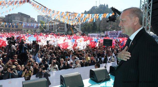 Cumhurbaşkanı Erdoğan Ereğli'de halka hitap etti.