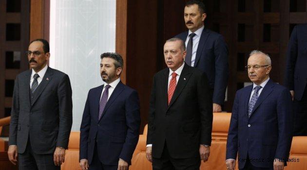 Cumhurbaşkanı Erdoğan, resmi törenle Meclisten uğurlandı