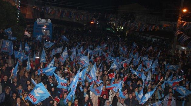 DSP Genel Başkanı Aksakal'ı binler karşıladı