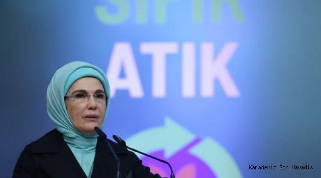 """Emine Erdoğan: """"Çevreyi korumak Müslüman olmanın gereğidir"""""""