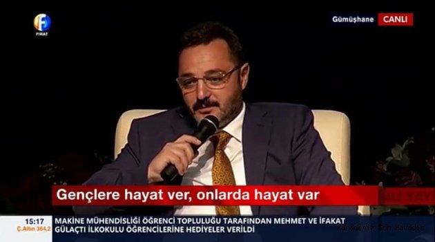 """GÜMÜŞHANE'DE """"GENÇLERE HAYAT VER ONLARDA HAYAT VAR""""PANELİ DÜZENLENDİ"""