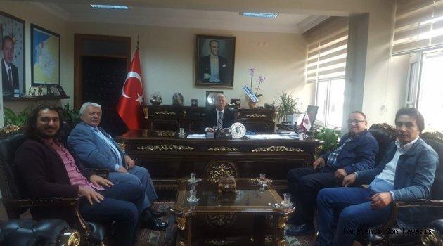Kdz.Ereğli Gazeteciler Derneği Yönetimi, Kdz.Ereğli Kaymakamı İsmail Çorumluoğlu'nu ziyaret etti.