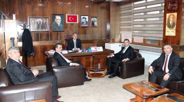 MHP Gülüç Belediye Başkan Adayı Semiz' den GMİS' e Ziyaret