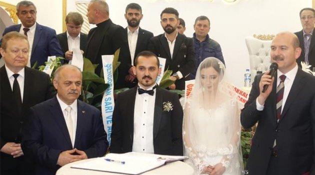 Süleyman Soylu nikah şahidi oldu
