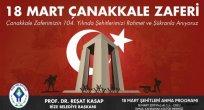 Başkan Kasap, 18 Mart Çanakkale Zaferini Kutladı