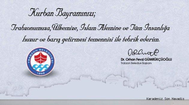 Trabzon Büyük Şehir Belediyesi Kurban Bayramı Mesajı