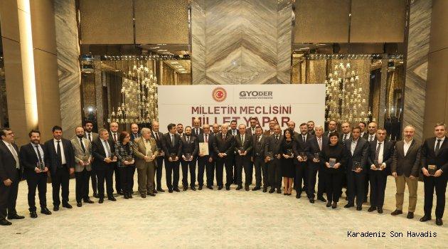 Türkiye Büyük Millet Meclisi, GYODER ve  Konsorsiyum Üyelerini takdir plaketiyle onurlandırdı
