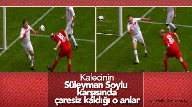 Ünlüler maçında Süleyman Soylu'dan muhteşem kafa golü