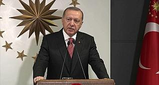 """Türkiye Cumhurbaşkanı Recep Tayyip Erdoğan, Cumhurbaşkanlığı Kabine Toplantısı'nın ardından """"Millete Sesleniş"""" konuşması yaptı."""
