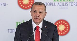 Cumhurbaşkanı Recep Tayyip Erdoğan, Rize Valiliği önünde düzenlenen toplu açılış töreninde konuştu.