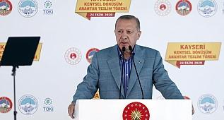 Cumhurbaşkanımız Erdoğan, Kayseri Kentsel Dönüşüm Anahtar Teslim Töreni'nde konuştu