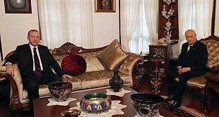 Cumhurbaşkanı Erdoğan, MHP Genel Başkanı Bahçeli ile bir araya geldi
