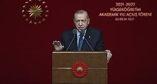 Cumhurbaşkanı Erdoğan, 2021-2022 Yükseköğretim Akademik Yıl Açılış Töreni'ne katıldı