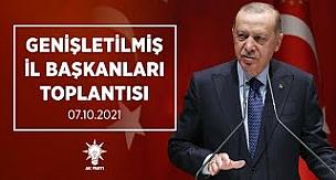 Cumhurbaşkanı Erdoğan, AK Parti Genişletilmiş İl Başkanları Toplantısı'nda yaptığı konuştu