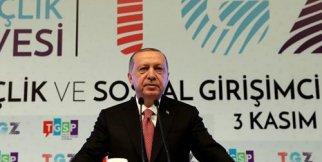 Cumhurbaşkanı Erdoğan, Türkiye Gençlik Zirvesi'nin açılışında konuştu